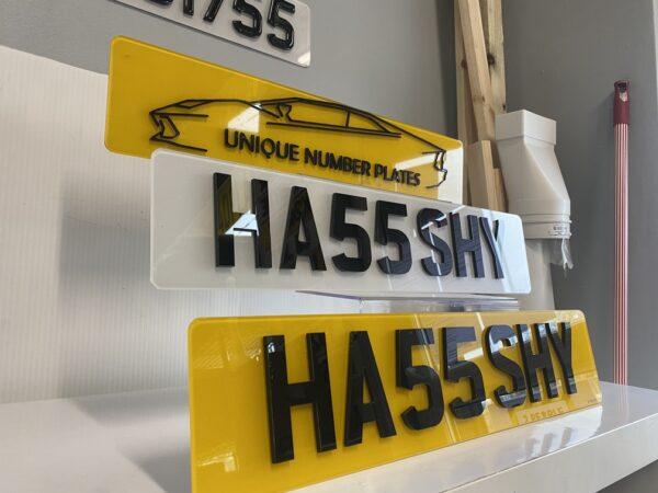 4D 5mm: Road Legal Number Plates