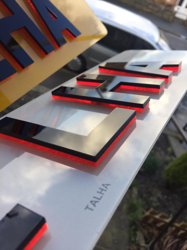 4D NEON Number Plates