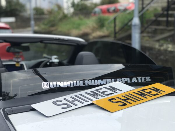 3D Gel Number Plate