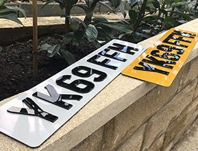 4D Acrylic Number Plate